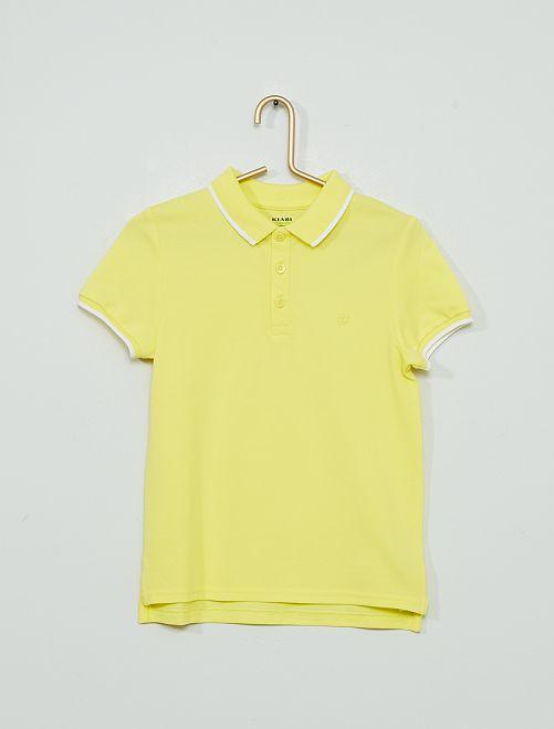 Polo coton éco-conçu                                                                             jaune