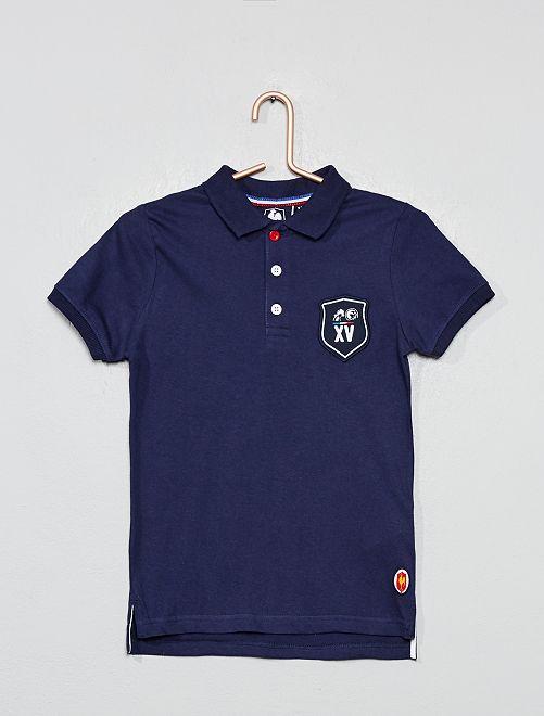 Polo de rugby 'XV de France'                                         bleu marine Garçon