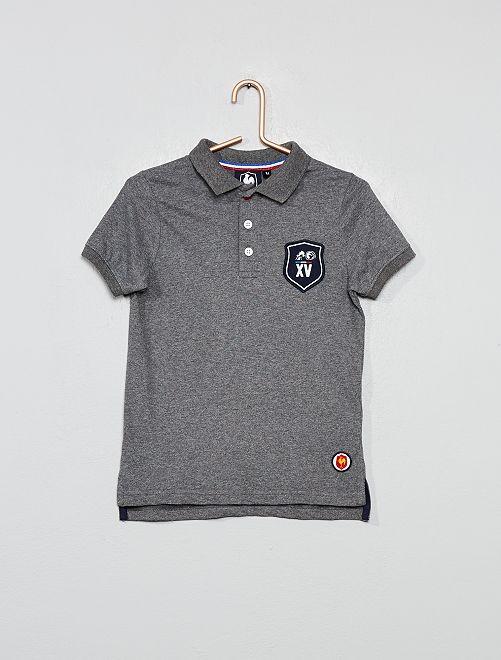 Polo de rugby 'XV de France'                                         gris chiné