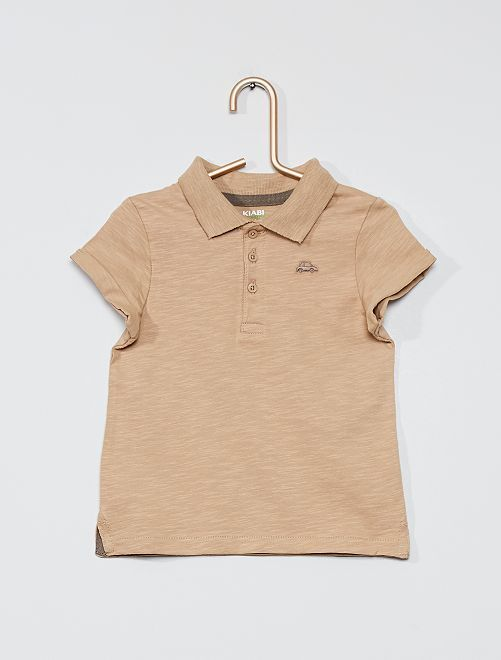 Polo 'éco-conception'                                                                             beige
