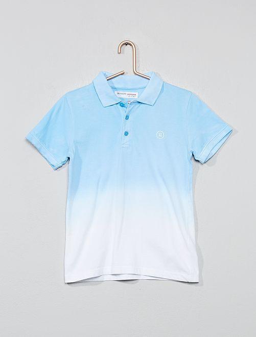 Polo en jersey tie and dye                             bleu