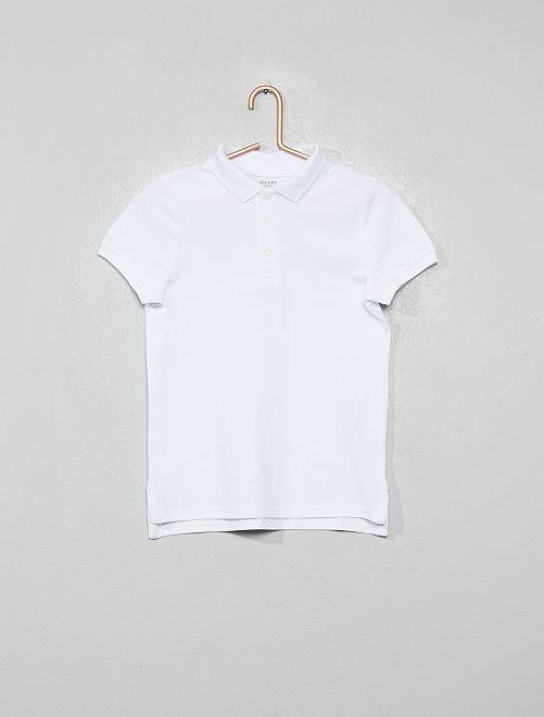 Polo en maille piquée éco-conçu                                                                                         blanc
