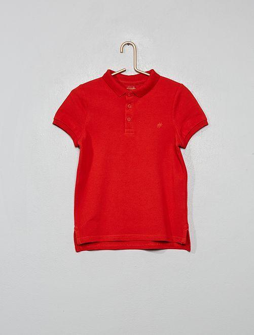 Polo en maille piquée éco-conçu                                                                                         rouge coquelicot