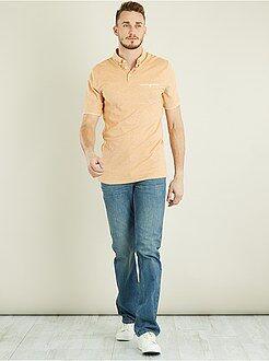 Homme de plus d'1m90 - Polo en piqué de coton bicolore +1m90 - Kiabi