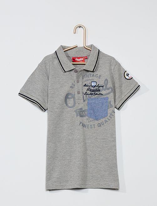 Polo en pur coton                                                     gris