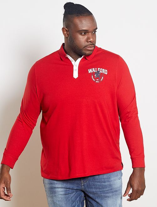 Polo esprit rugby                                         rouge