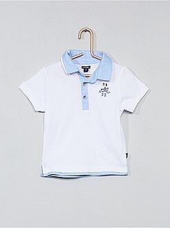 T-shirt - Polo finitions chambray - Kiabi