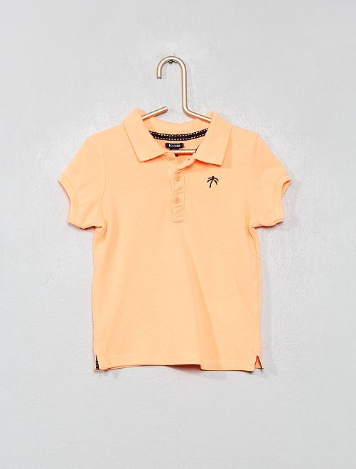 Polo fluo brodé                             orange fluo