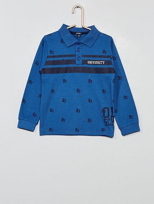 Polo imprimé                                         bleu