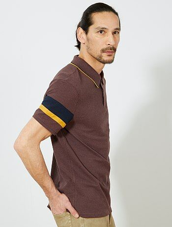 Polo oversize manches rayées