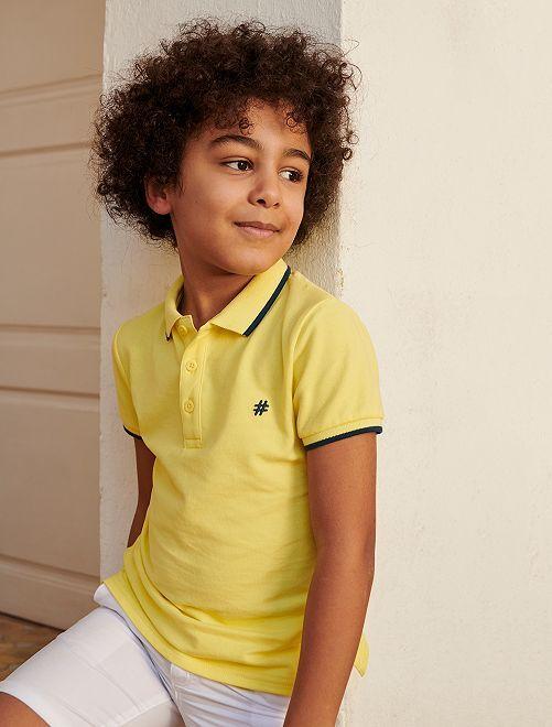 Polo piqué de coton 'Eco Conception'                                                                                                     jaune