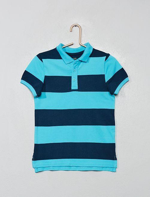 Polo piqué de coton éco-conçu                                                                                         bleu
