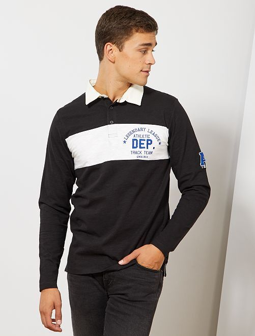 Polo rugby 'Produkt'                                         noir