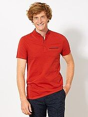 Polo slim col mao
