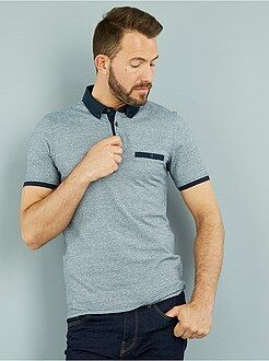 Polo manches courtes - Polo slim jersey imprimé