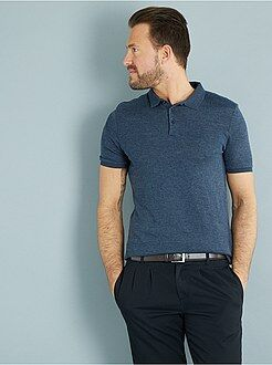 Polo - Polo slim maille jersey esprit tricot