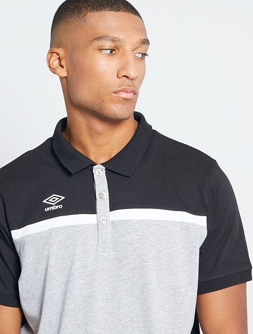 Polo sport 'Umbro'                             noir/gris clair chiné