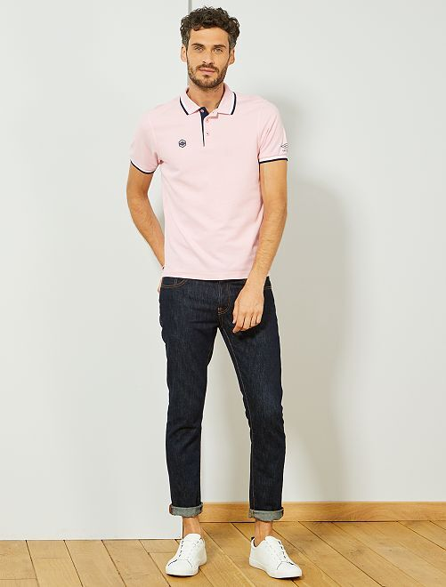Polo sport 'Umbro'                             rose Homme