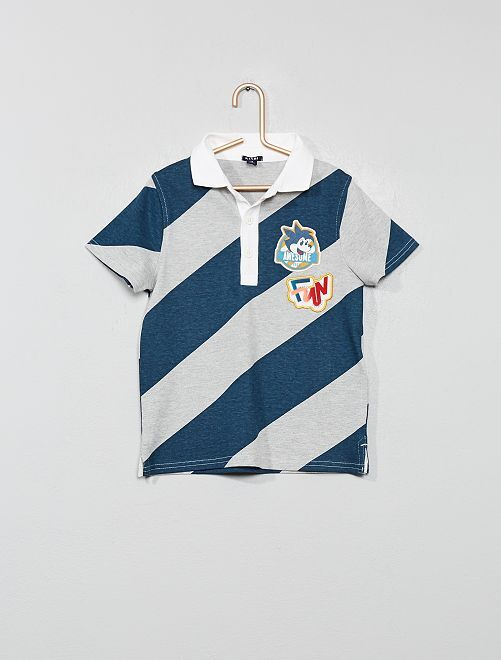 Polo style rugby                                         bleu