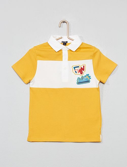 Polo style rugby                     jaune
