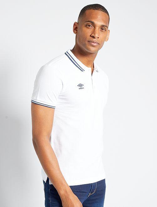 Polo 'Umbro'                                                                 blanc