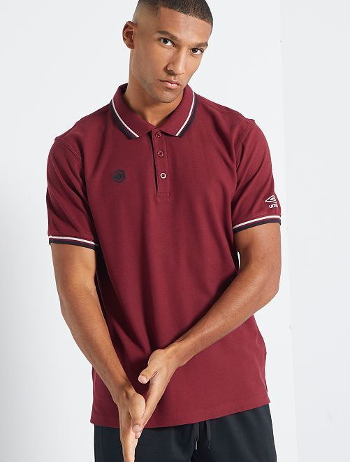 Polo 'Umbro'                             bordeaux