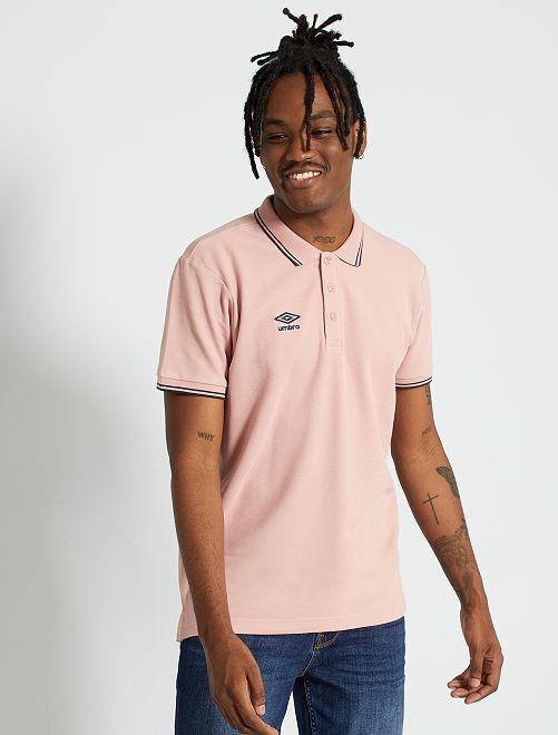 Polo 'Umbro'                                                     rose pâle