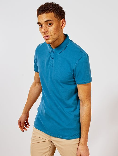 Polo uni regular                                                                                                                                                     bleu