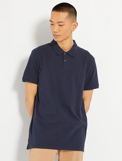 Polo uni regular                                                                                                                                                     bleu marine
