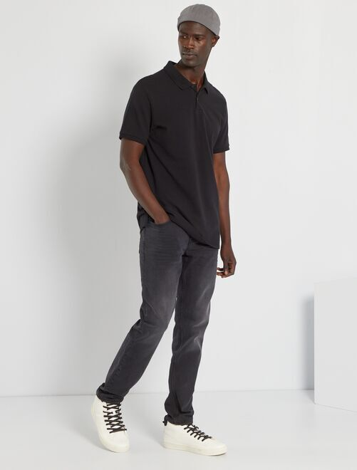 Polo uni regular                                                                                                                                                                                                         noir