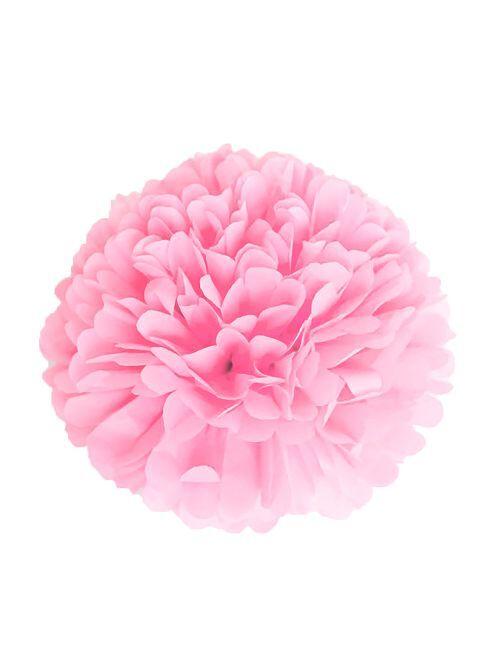 Pompon en papier 15 cm                                                     rose