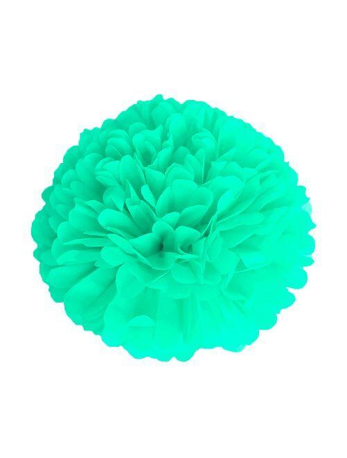 Pompon en papier 15 cm                                                     vert