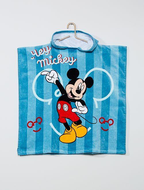 Poncho de bain à capuche 'Mickey Mouse' 'Disney'                             bleu