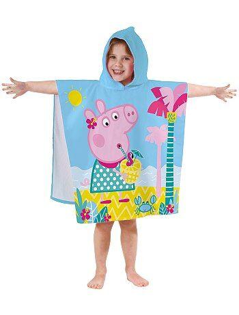 Fille 3-12 ans - Poncho de bain à capuche 'Peppa Pig' - Kiabi