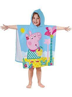 Maillot de bain, plage - Poncho de bain à capuche 'Peppa Pig' - Kiabi