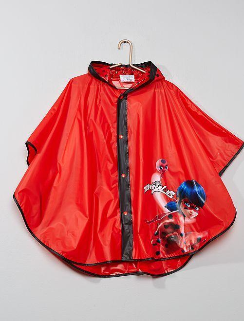 Poncho de pluie 'Miraculous'                             rouge
