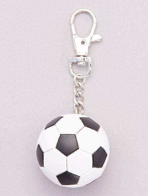 Porte-clé 'ballon de foot'                                         blanc