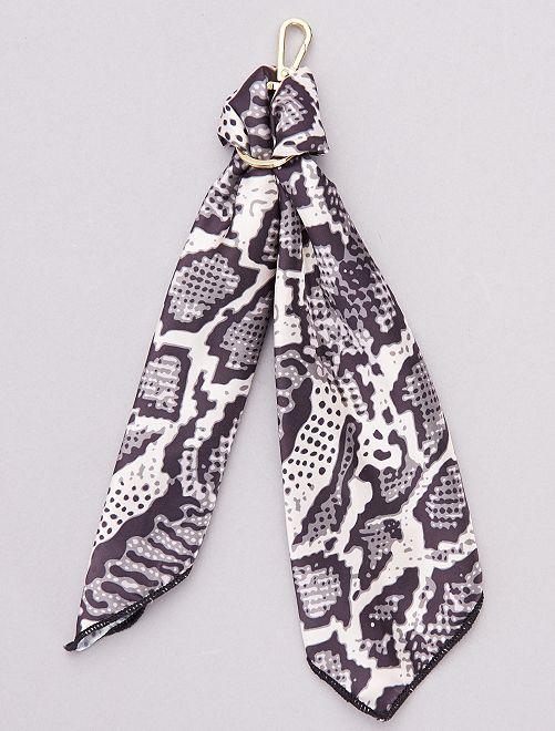 Porte clé foulard                                         beige/marine