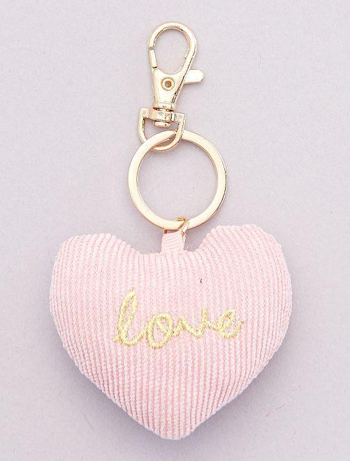 Porte-clés 'cœur'                             rose