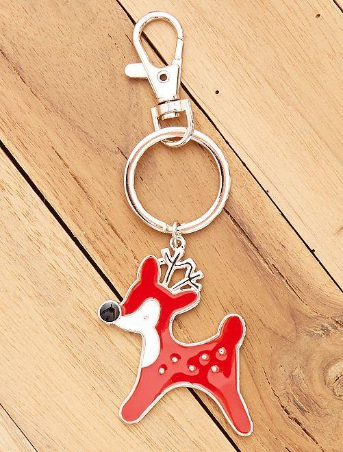 Porte-clés 'Noël'                                                     cerf