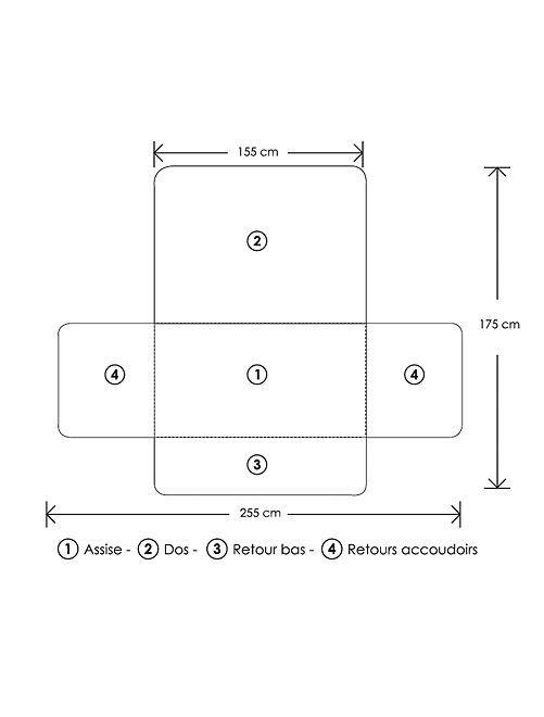 prot ge canap 3 places linge de lit kiabi 20 00. Black Bedroom Furniture Sets. Home Design Ideas