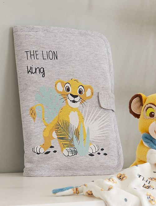 Protège carnet de santé 'Le Roi Lion'                             gris Bébé garçon