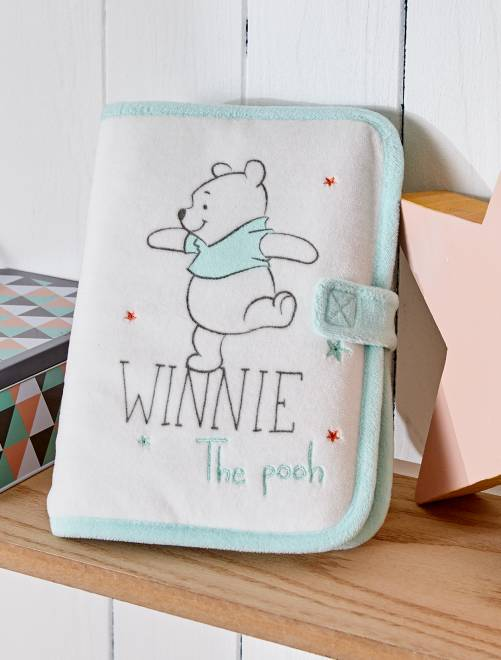Protège carnet de santé 'Winnie the pooh'                             blanc/vert