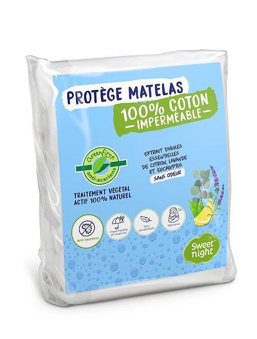 Protège-matelas anti acariens                             blanc