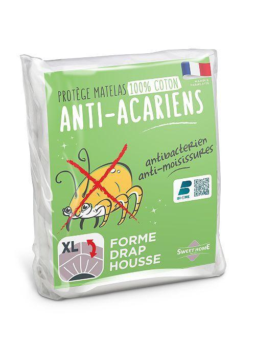Protège matelas en molleton                             blanc