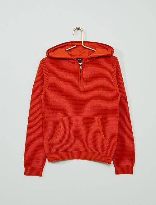 Pull à capuche                                         orange
