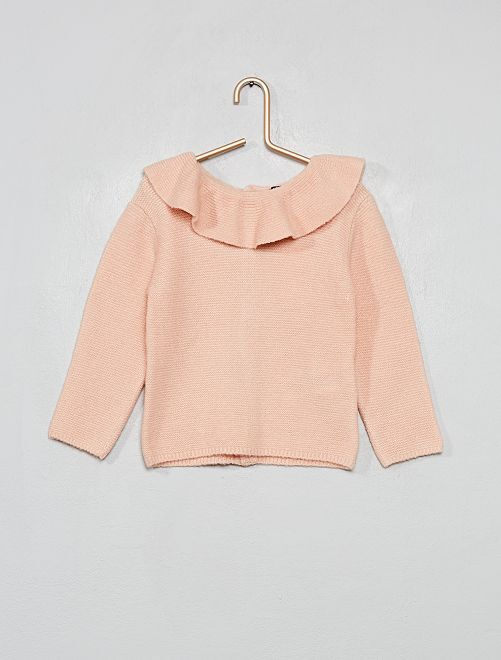 Pull à collerette                             rose
