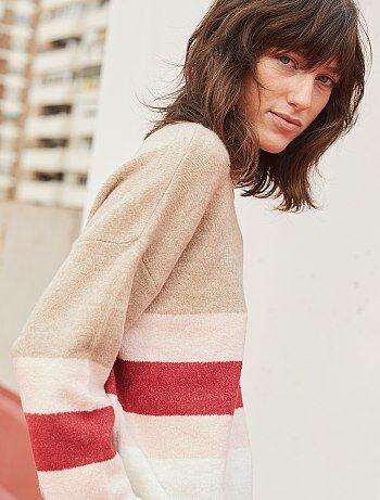Pull avec bandes style color block