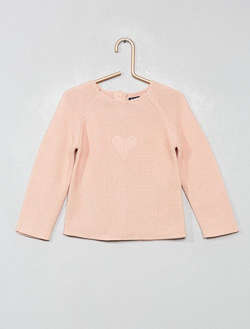 Pull avec boutons au dos                                                                             rose