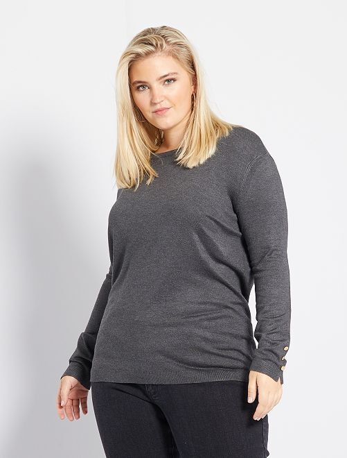 Pull boutons fantaisie                                             gris